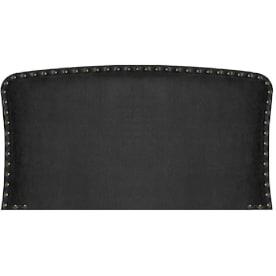 cabecero cama negro tachuelado con chinchetas envejecidas y doblemente decorativa: clasico moderna