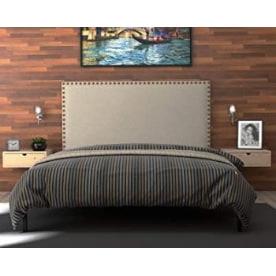 cabecero doble tachuelas cabezal tapizado con tachuelas cabeceros de cama con tachuelas cabecero beige tachuelas cabecero claro con tachuelas