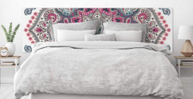 Cabecero de cama con mandala